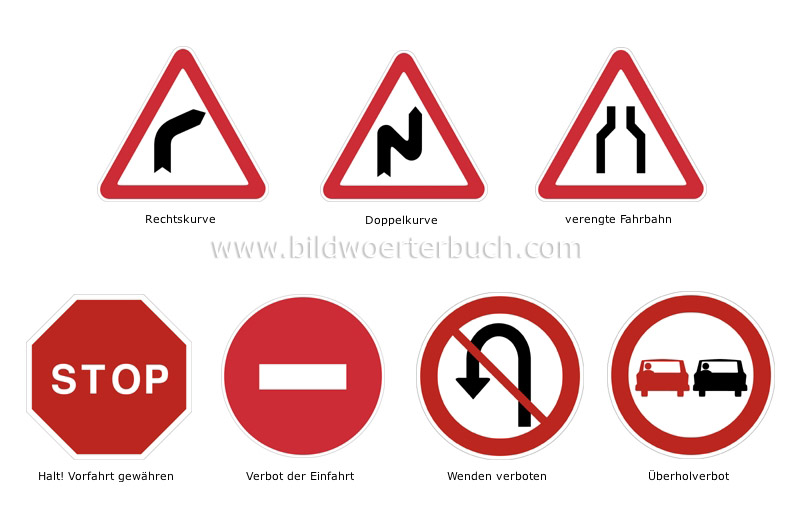 major international road signs image