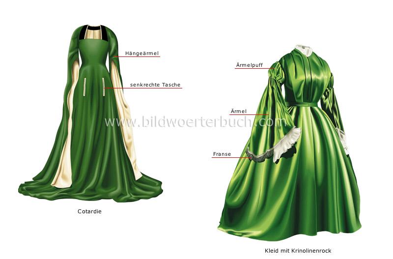 Elemente historischer kostüme bild
