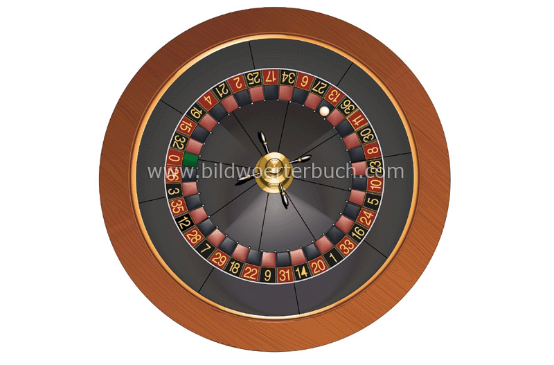 French roulette wheel image