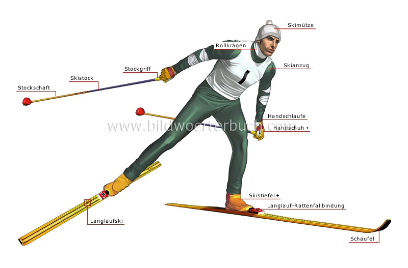 cross-country skier image