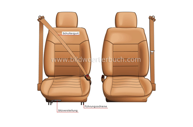 bucket seat: front view image