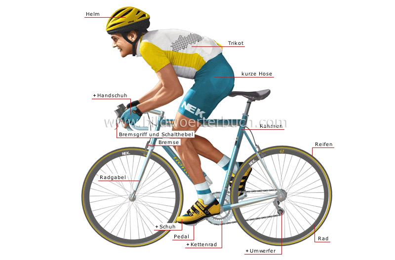 road-racing bicycle and cyclist image