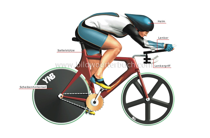 pursuit bicycle and racer image