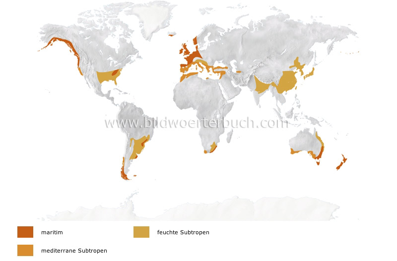warm temperate climates image
